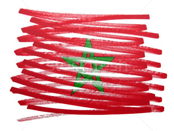 Bandera ilustración Marruecos pluma negocios pintura Foto stock © michaklootwijk