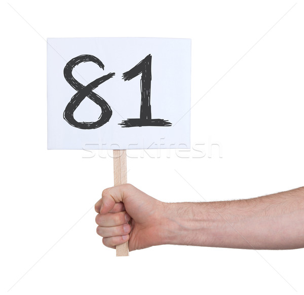 Sign with a number, 81 Stock photo © michaklootwijk