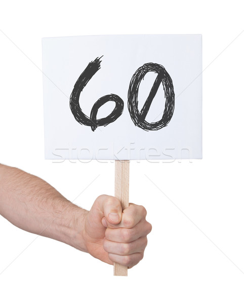 にログイン 番号 60 孤立した 白 ビジネス ストックフォト © michaklootwijk