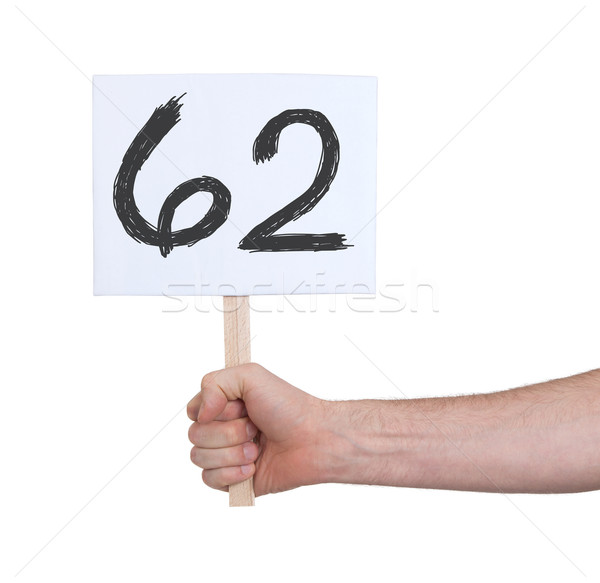 Sign with a number, 62 Stock photo © michaklootwijk