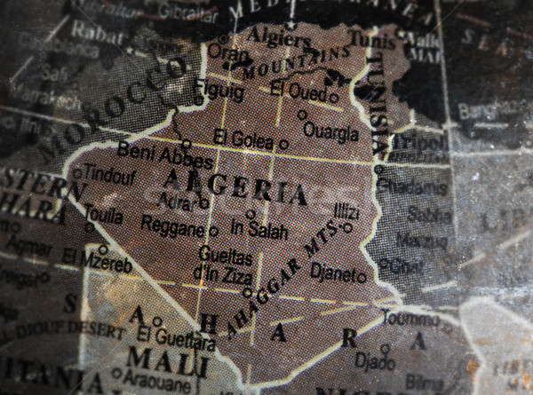 Algeria map on vintage crack paper background Stock photo © michaklootwijk