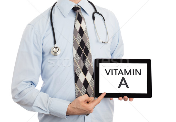 Médico tableta vitamina aislado blanco Foto stock © michaklootwijk