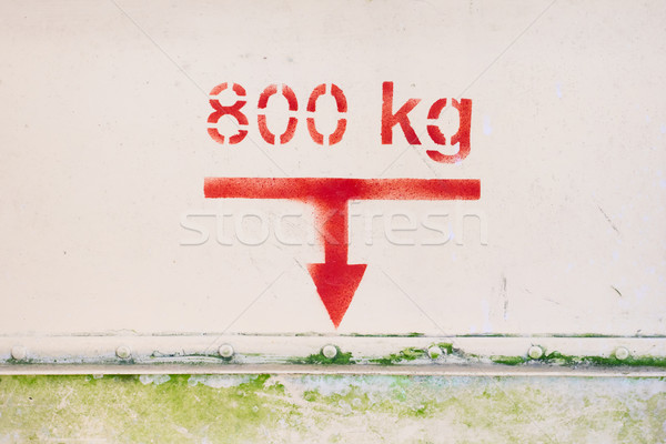 Maximum load of 800 kg on this old airplane Stock photo © michaklootwijk