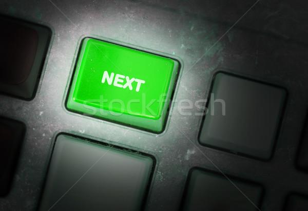 Gomb koszos öreg panel szelektív fókusz számítógép Stock fotó © michaklootwijk