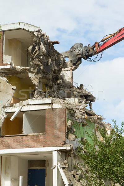 Demolishing a block of flats Stock photo © michaklootwijk