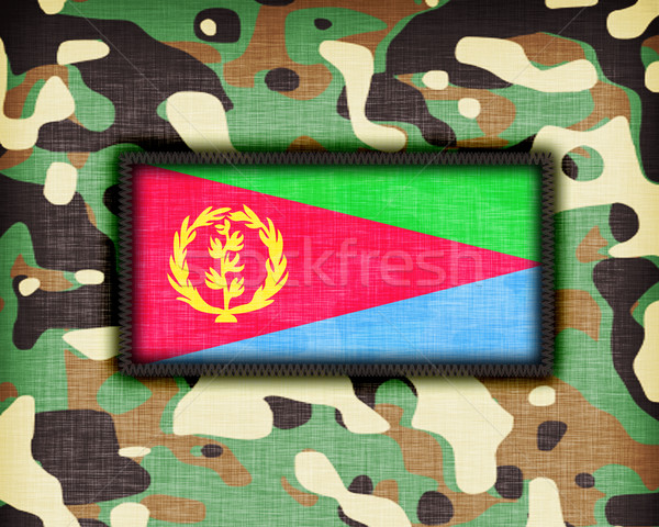 Kamuflaż uniform Erytrea banderą tekstury streszczenie Zdjęcia stock © michaklootwijk