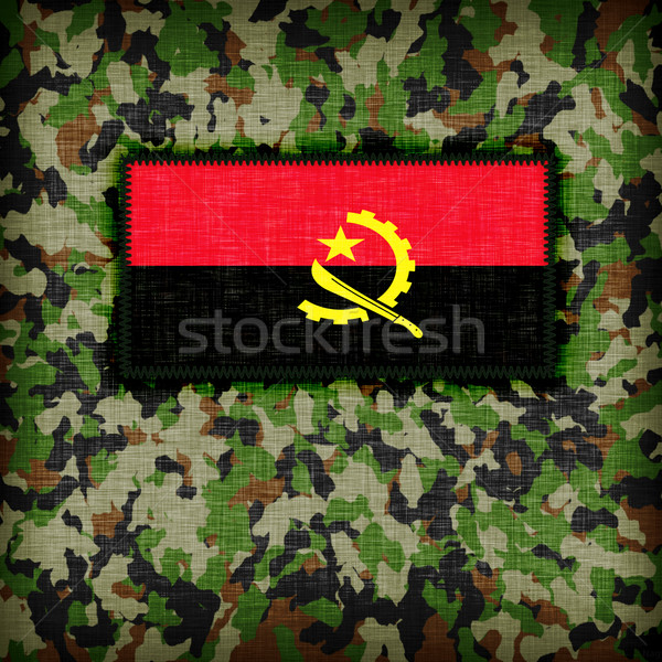 Camouflage uniform Angola vlag textuur abstract Stockfoto © michaklootwijk