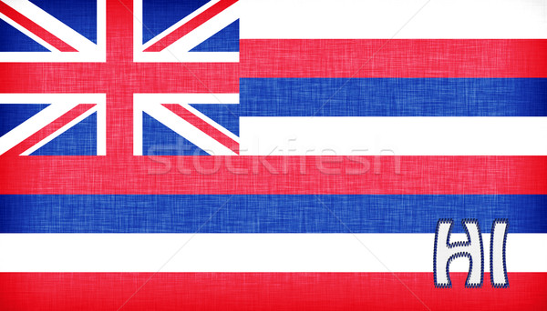 Linen flag of the US state of Hawaii Stock photo © michaklootwijk