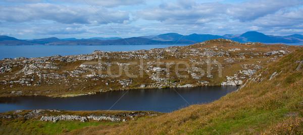 Typowy irlandzki widoku charakter krajobraz niebieski Zdjęcia stock © michaklootwijk