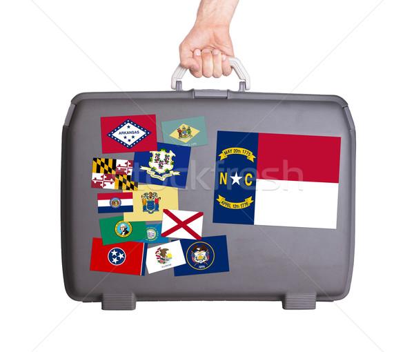 Használt műanyag bőrönd foltok matricák Észak-Karolina Stock fotó © michaklootwijk