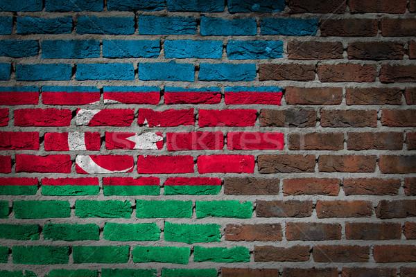 Ciemne murem Azerbejdżan tekstury banderą malowany Zdjęcia stock © michaklootwijk