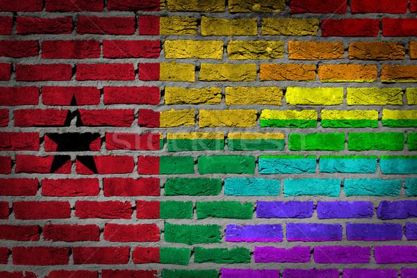 Dark brick wall - LGBT rights - Guinea Bissau Stock photo © michaklootwijk