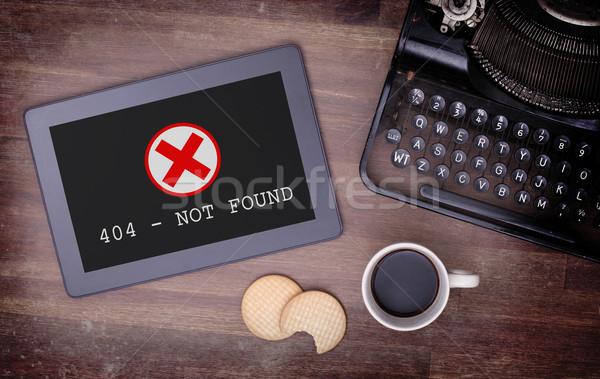 タブレット エラー 404 しない インターネット 木材 ストックフォト © michaklootwijk