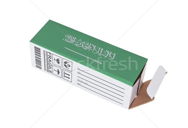 Exportar produto Arábia Saudita papel caixa Foto stock © michaklootwijk