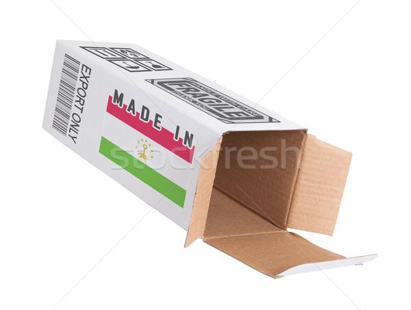 Exportar produto Tajiquistão papel caixa Foto stock © michaklootwijk