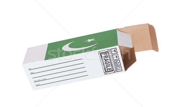 Exporter produit Pakistan papier boîte Photo stock © michaklootwijk