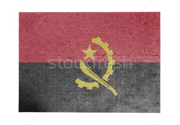 большой 1000 частей Ангола флаг Сток-фото © michaklootwijk