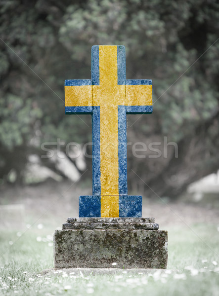 Gravestone in the cemetery - Sweden Stock photo © michaklootwijk