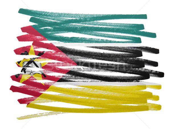 флаг иллюстрация Мозамбик пер дизайна искусства Сток-фото © michaklootwijk
