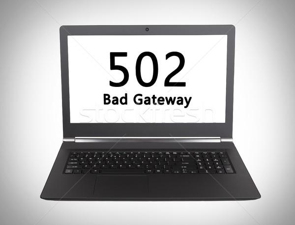 Http állapot kód rossz átjáró laptop Stock fotó © michaklootwijk