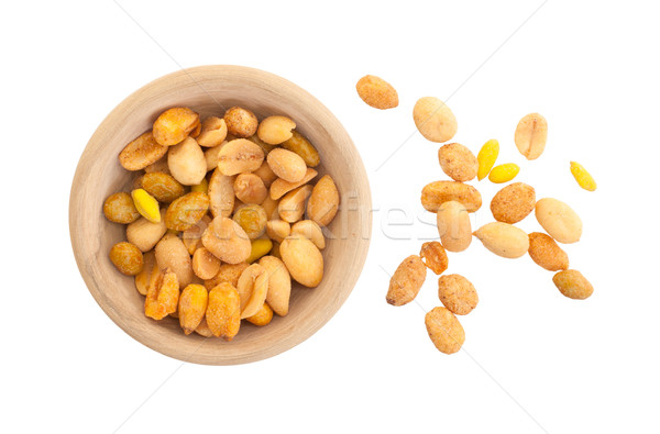 Fresh mixed salted nuts in a bowl, peanut mix Stock photo © michaklootwijk