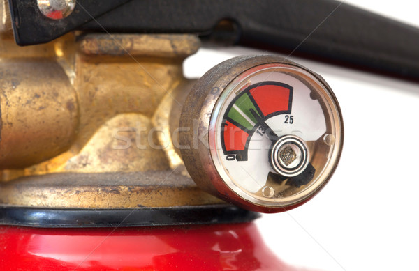 Dusty fire extinguisher fully charged, selective focus Stock photo © michaklootwijk