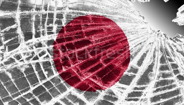 Brisé glace verre pavillon modèle Japon Photo stock © michaklootwijk