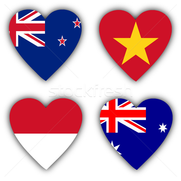Flags in the shape of a heart, coutries Stock photo © michaklootwijk