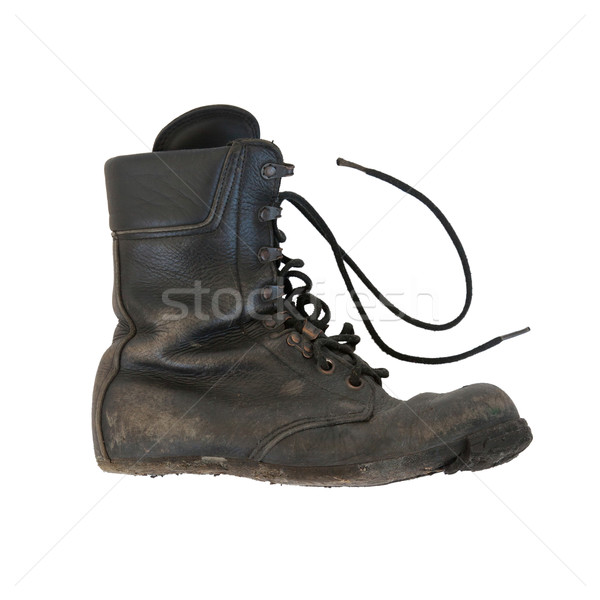 Army boot isolated on white Stock photo © michaklootwijk
