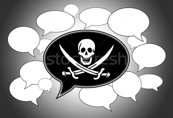 связи пиратство символ череп меч Сток-фото © michaklootwijk