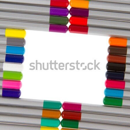 Many different color pencils, circle Stock photo © michaklootwijk
