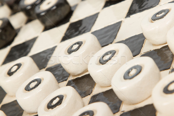 Very old game of checkers, pottery Stock photo © michaklootwijk