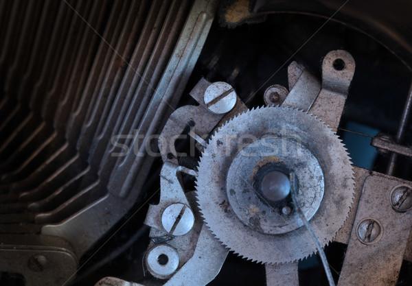 汚い ヴィンテージ タイプライター 冷たい ストックフォト © michaklootwijk