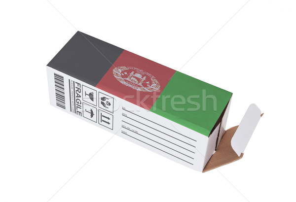 Concept of export - Product of Afghanistan Stock photo © michaklootwijk