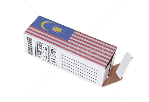 Exportar produto Malásia papel caixa Foto stock © michaklootwijk