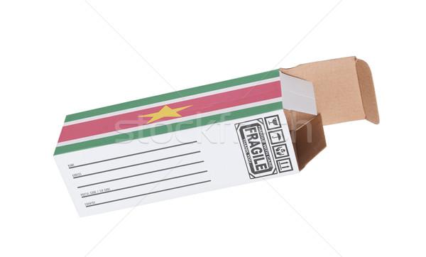 Exportar producto Surinam papel cuadro Foto stock © michaklootwijk