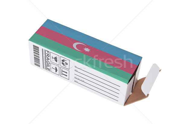 Foto stock: Exportar · producto · Azerbaiyán · papel · cuadro