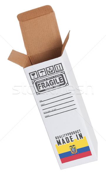 Export termék Ecuador kinyitott papír doboz Stock fotó © michaklootwijk