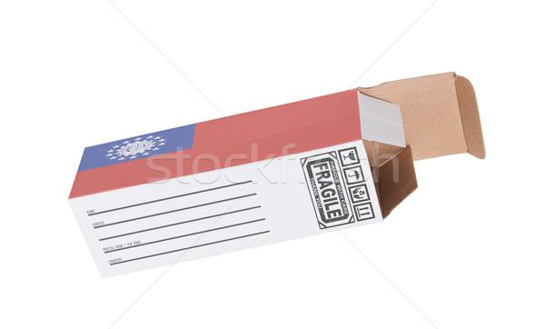 エクスポート 製品 ミャンマー 紙 ボックス ストックフォト © michaklootwijk