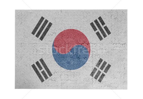 1000 pièces Corée du Sud pavillon Photo stock © michaklootwijk