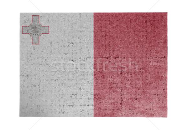 Grande rompecabezas 1000 piezas Malta bandera Foto stock © michaklootwijk