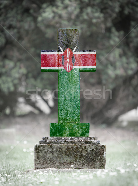 Gravestone in the cemetery - Kenya Stock photo © michaklootwijk