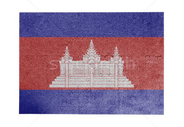 1000 pièces Cambodge pavillon Photo stock © michaklootwijk