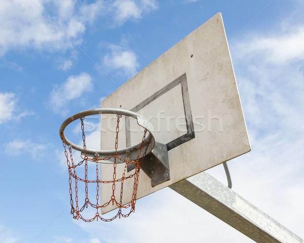 Cancha de baloncesto edad cárcel Países Bajos fondo naranja Foto stock © michaklootwijk