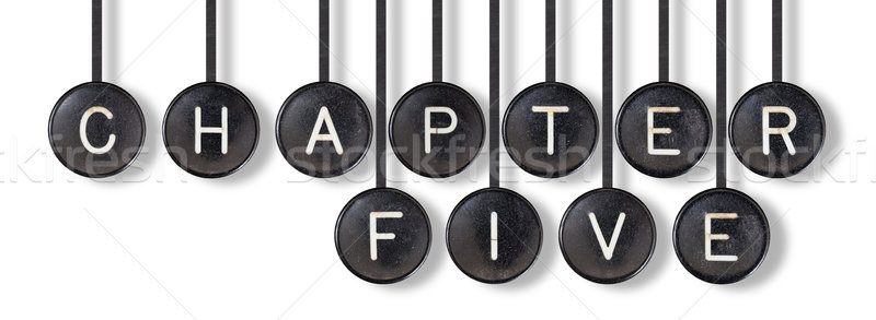 Typewriter buttons, isolated - Chapter five Stock photo © michaklootwijk