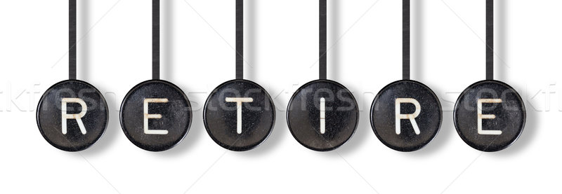 Typewriter buttons, isolated - Retire Stock photo © michaklootwijk