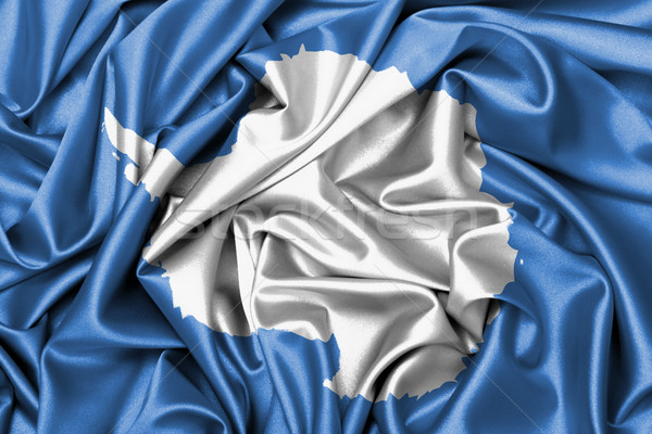 Satin flag - flag of Antarctica Stock photo © michaklootwijk