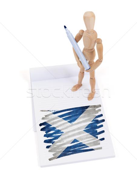 Manequim desenho escócia bandeira papel Foto stock © michaklootwijk