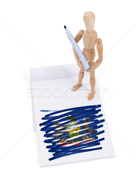 Wooden mannequin made a drawing - Pennsylvania Stock photo © michaklootwijk