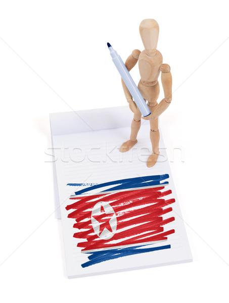 Manequim desenho norte bandeira papel Foto stock © michaklootwijk